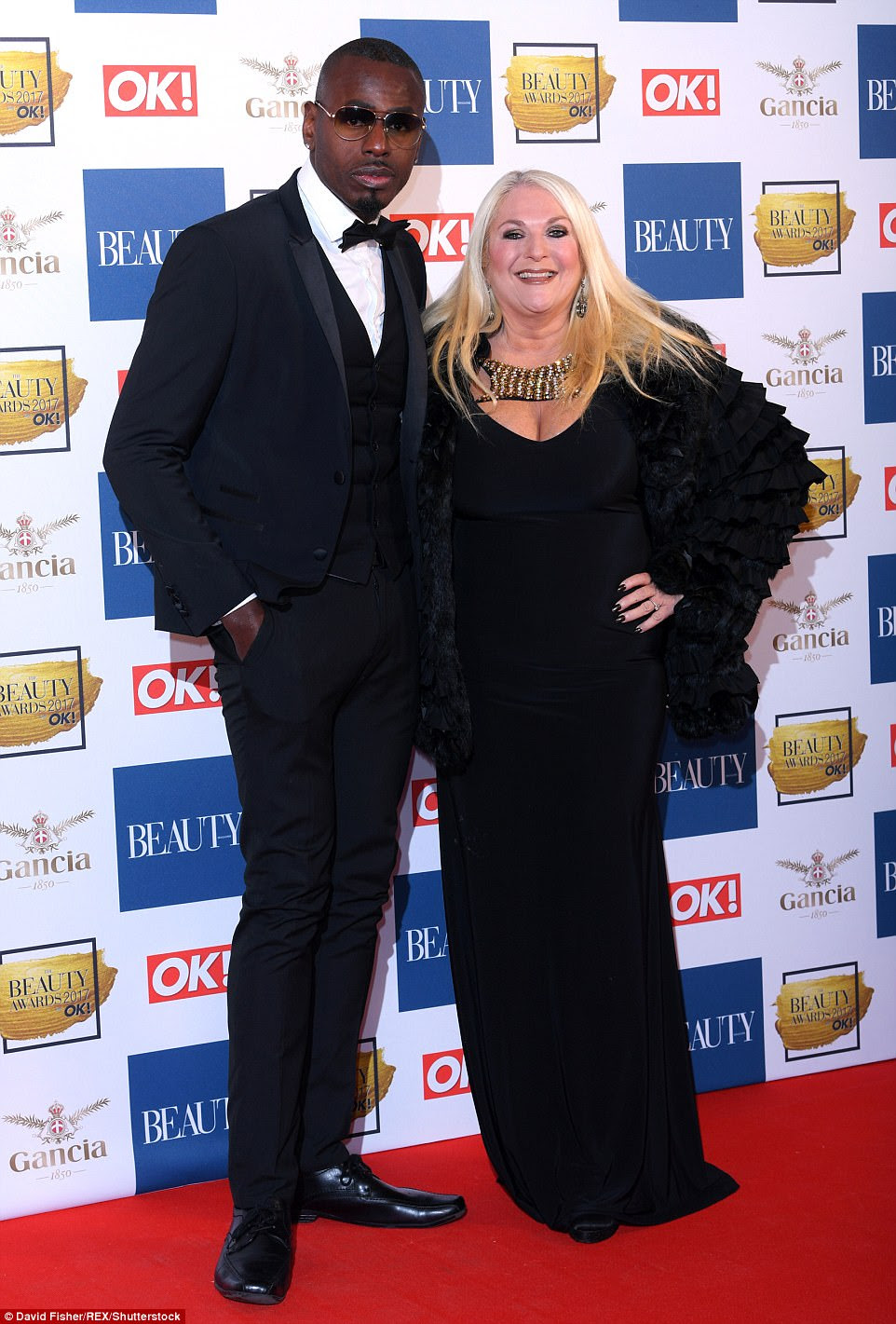 Cool characters! Vanessa Feltz was joined by her dashing partnerBen Ofoedu who opted to sport glasses inside
