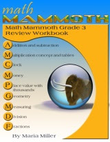 cover for Math Mammoth Grade 3 Review Workbook