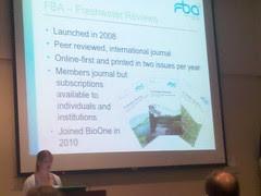 Louise Miles of Freshwater Bio. Association at BioOne meeting by martin_kalfatovic