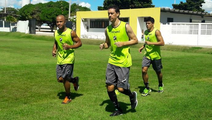 ABC - Anderson Pedra - Gustavo Bastos - Echeverría (Foto: Assessoria de Comunicação/ABC FC)