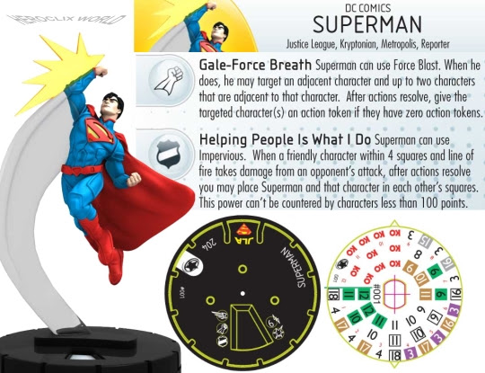 HeroClix Superman Justice League Dial Spoiler