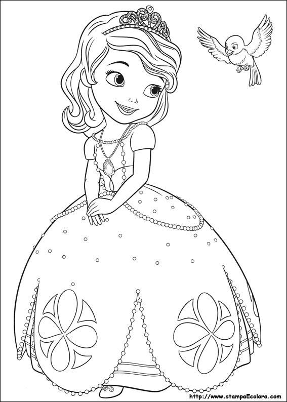 Disegni Principesse Da Colorare Sofia Coloradisegni