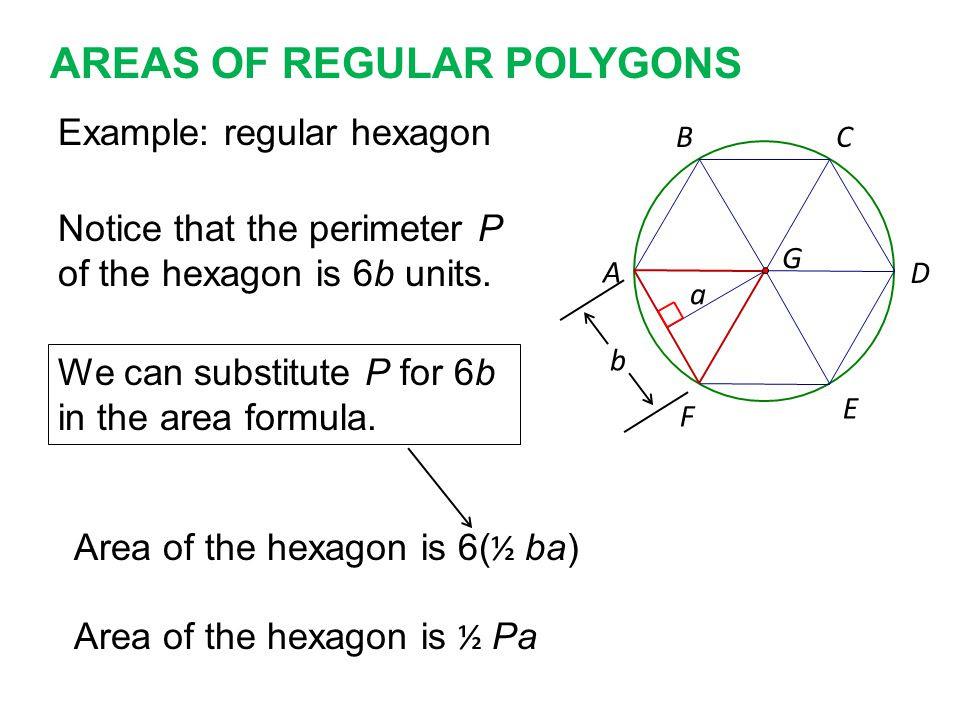 AREAS+OF+REGULAR+POLYGONS