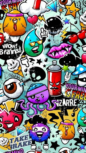 Wallpaper Graffiti Keren Kartun