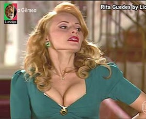 Rita Guedes super sensual na novela Alma Gemea