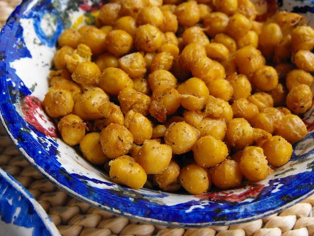 Grão frito com especiarias (Actifry)