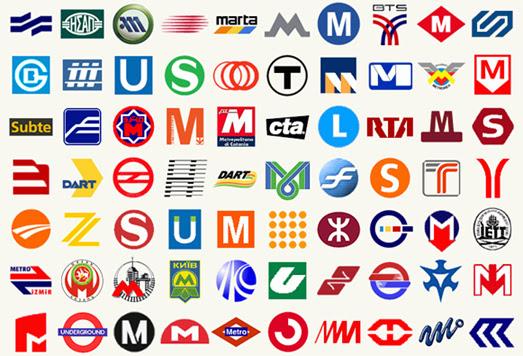 Metro and Subway Logos From Around the World
