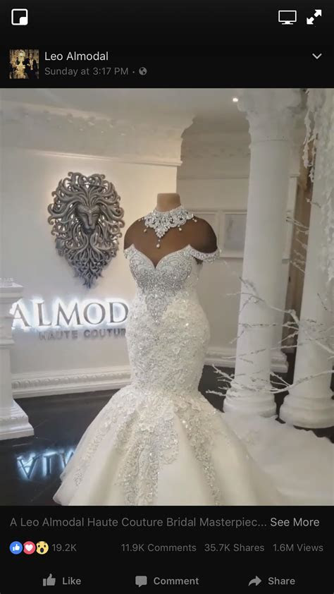 Leo Almodal Haute Couture Wedding Dress. Absolutely