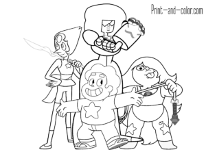 Steven Universe coloring pages | Print and Color.com