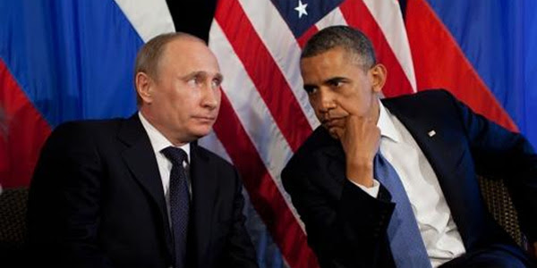 Russian President Putin and former President Obama