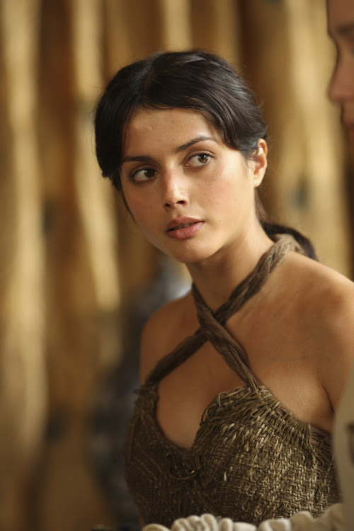 """HBO's """"Game of Thrones"""" season 2 Daenerys Targaryen- Emilia Clarke Doreah- Roxanne McKee Irri- Amrita Acharia"""