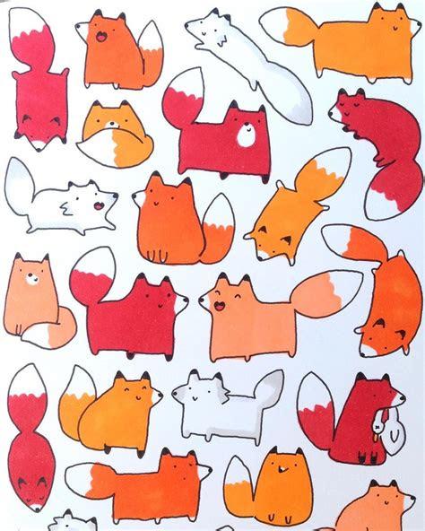 kawaii doodle foxes dedicated   fox loving