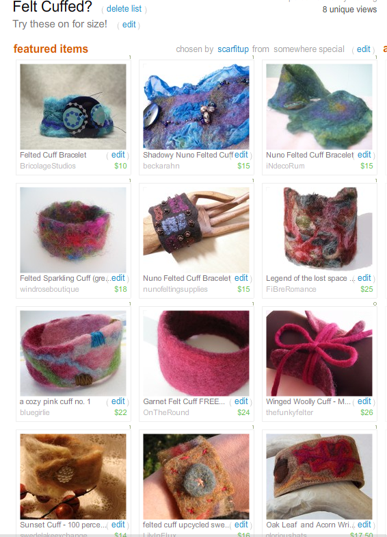 Felt Cuffed?  Treasury by Scarfitup!