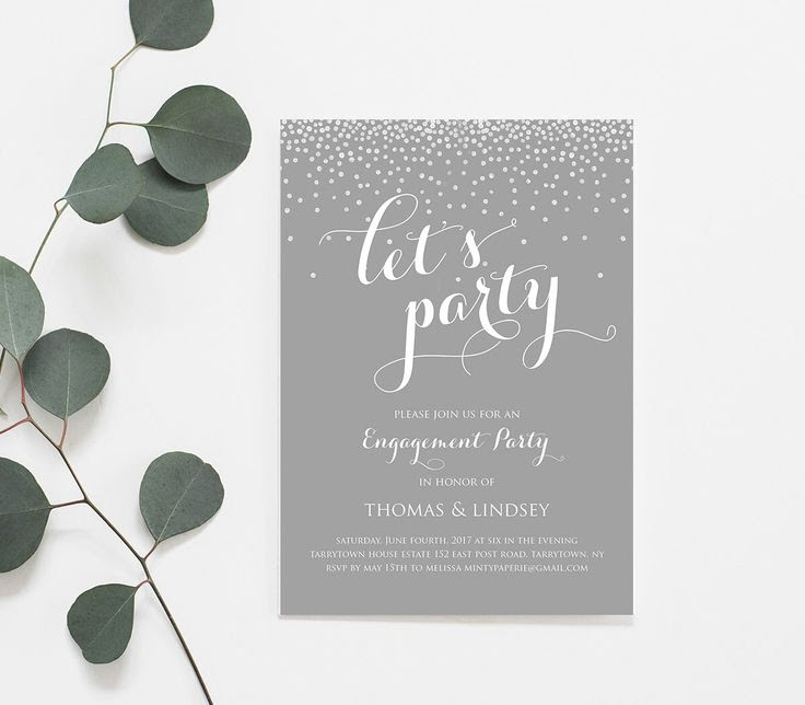 1000+ ideas about Engagement Invitation Template on Pinterest ...