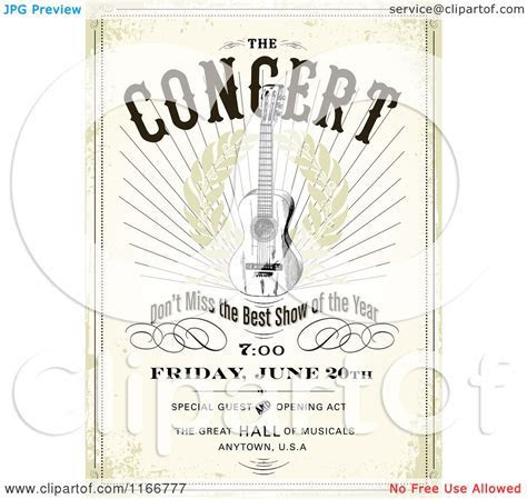 Clipart of a Grungy Concert Poster Design with Sample Text