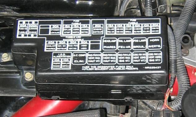1999 Mitsubishi Galant E Fuse Box