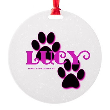Lucy Name Round Ornament