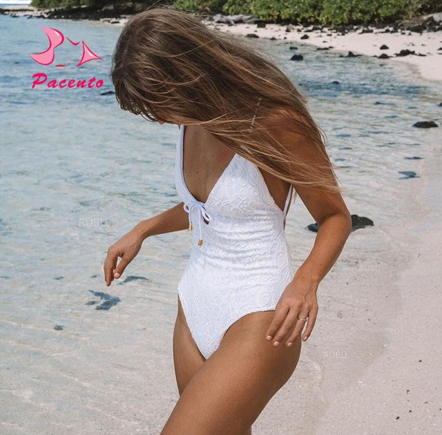 One-Piece Swimwear   How Do I Get Pacento One-piece Suits Swimsuit Retro  Vintage White Lace Bikini 2018 High Cut Backless One Piece Swimsuit Female  Plavky ... 90fb4a84b