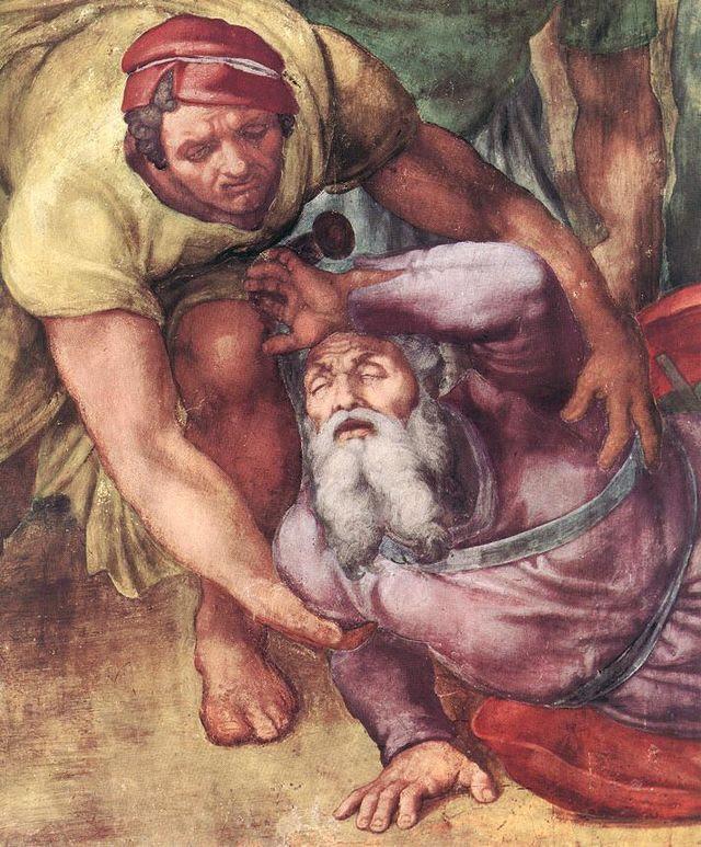 Michelangelo, Pauline konvertering Saulo 05.jpg