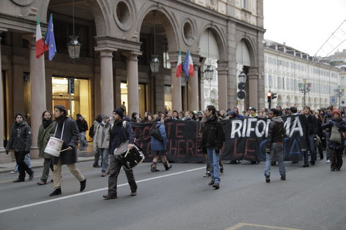 Another student protest in Torino