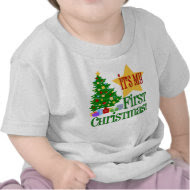 Babys First Christmas Onesie T-shirt