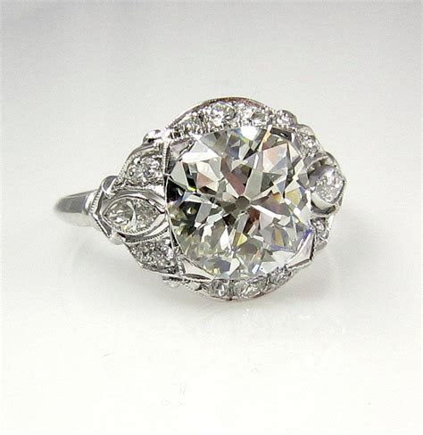 1915s  3.32ct Antique Vintage Old Mine by