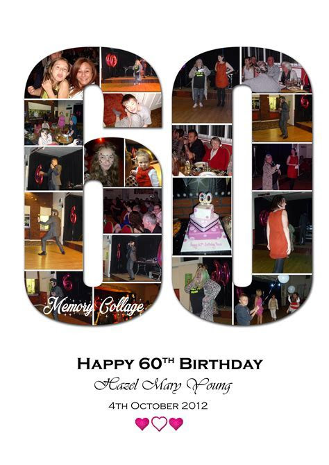 60th Birthday Photo Collage   Memory Collage