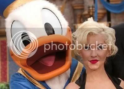 Christina aguilera donald duck