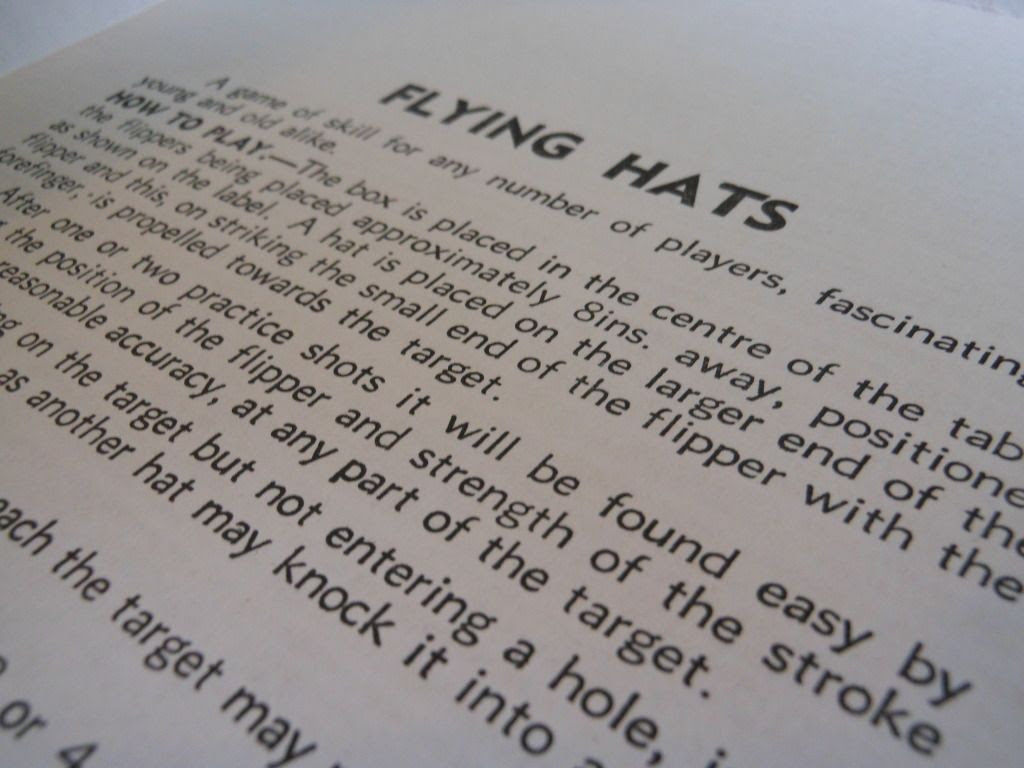 Flying Hats rules