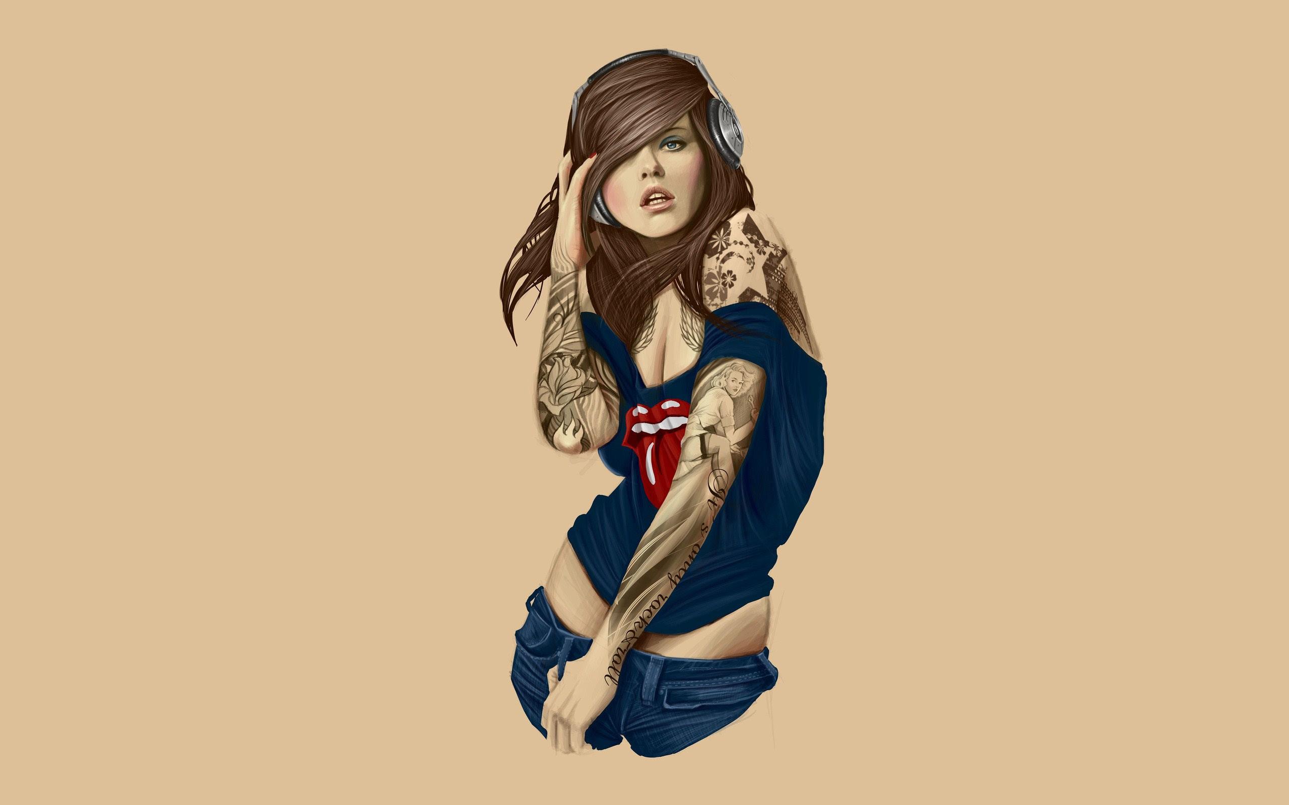 Girl Tattoo Wallpaper Sf Wallpaper