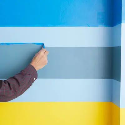 Bande De Peinture Sur Mur
