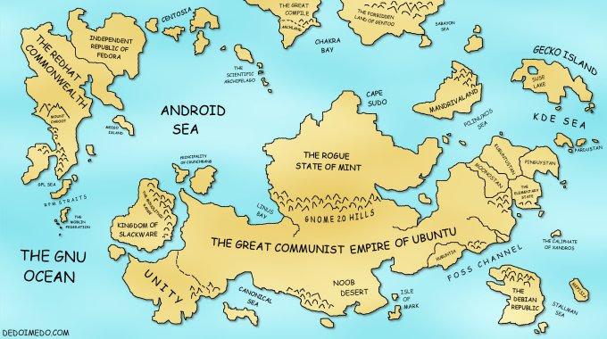 Linux World Map