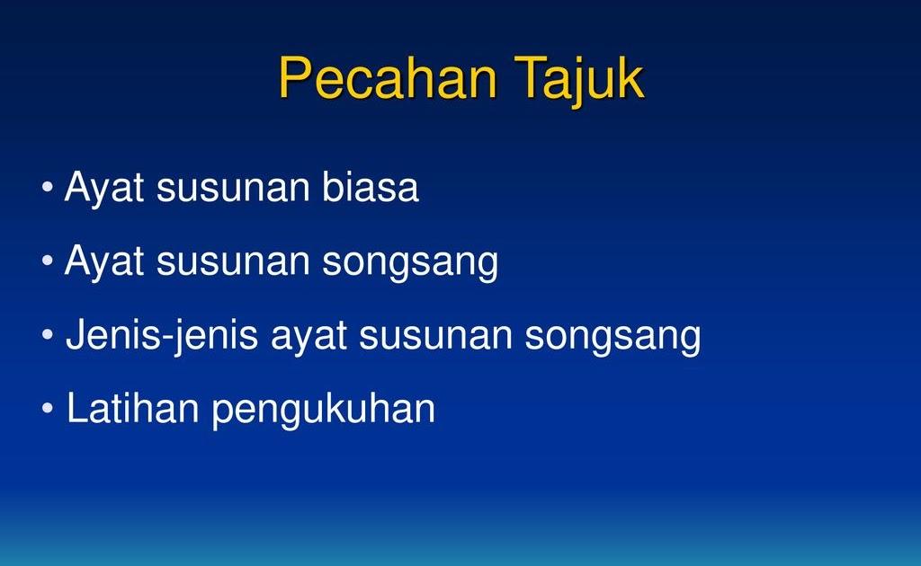 Ayat Biasa Dan Ayat Songsang  Ayat Susunan Biasa Dan Ayat Songsang Ppt Download  Penjelasan ...