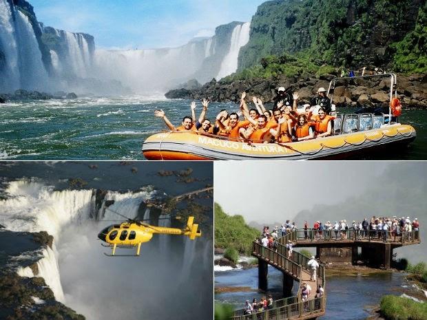 Movimento recorde de visitantes nas Cataratas do Iguaçu (Foto: Parque Nacional do Iguaçu/Divulgação)