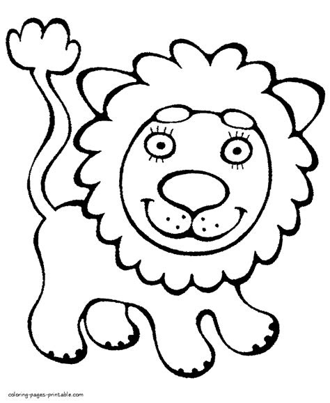 preschool colouring sheets lion coloring pages