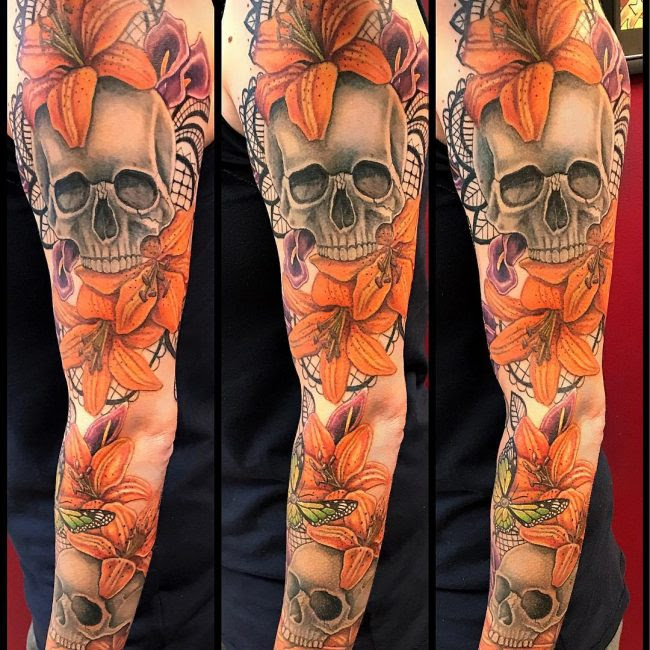 80 Lily Flower Tattoo Designs Meaning Tenderness Luck 2019