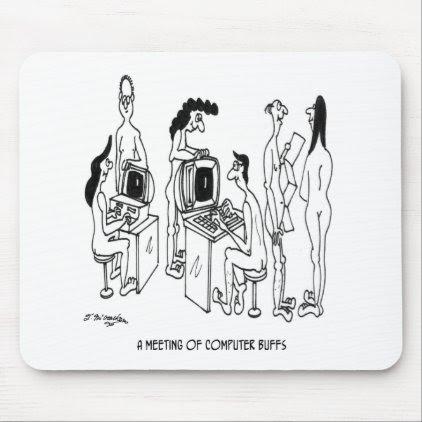 Computer Cartoon 4130 Mouse Pad