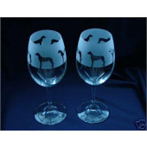 Glass In The Forest   dog print wine glasses