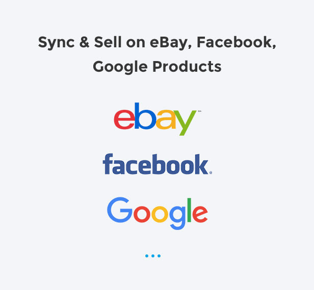 Easy to sell with ebay, facebook, google products