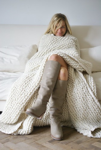 100% wool boots & blanket by wood & wool stool