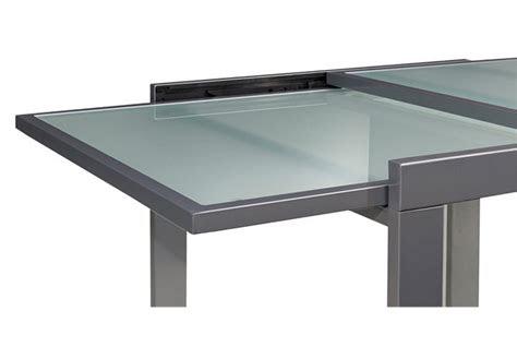 esstisch ausziehbar glas bis  cm alu weiss oder
