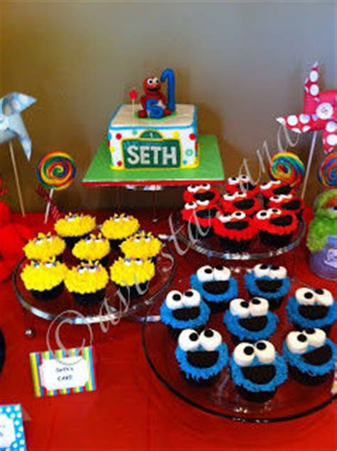Sesame Street Birthday Party Cupcake Ideas Pictures