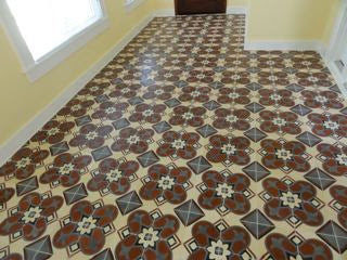 Cuban Tile Installation Floor View - Design 160-2A