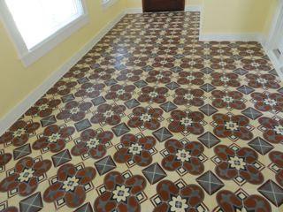 Cuban Tile Installation Floor View - Design 160-2A