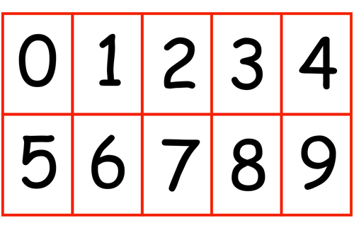0-9 Digit Cards by daffodil23 - Teaching Resources - TES