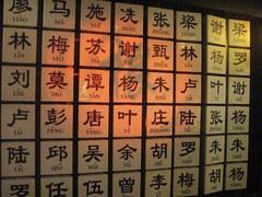 Origin of Surnames Board - Chinatown Heritage Center