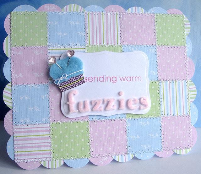 Fuzzy quilt card