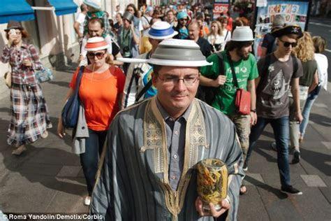 'Pastafarian' politician Christopher Schaeffer wears