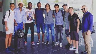 La foto de grup penjada per Puyol abans del viatge (Foto: Instagram)