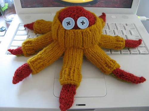 octopus wearing sweater